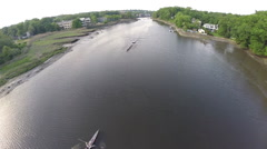 Boating Aerials Stock Footage