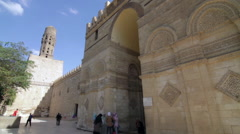 Al-Azhar Mosque entrance Stock Footage