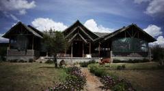 Traditional Kenyan home Stock Footage