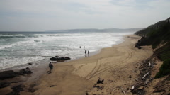 South African beach overhead - stock footage