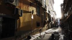 Alleyway in Portugal - stock footage