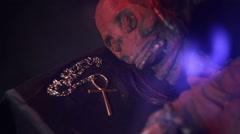 mummy corpse mummification 22 - stock footage