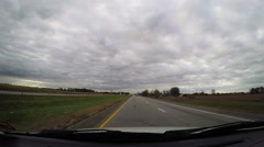 Driving through Indianapolis Stock Footage