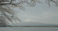 Quiet Mt.Fuji 4k  non color graded (4000x2160) Stock Footage