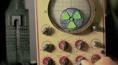 Nuclear command dial Stock Footage