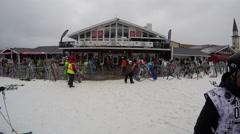 Ski resort time lapse 4K Stock Footage