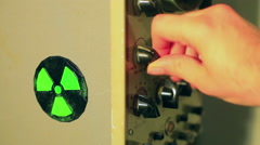 Stock Video Footage of radioactive switches nuclear command