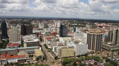 Nairobi, Kenya citiscape Stock Footage