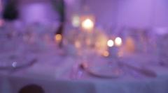 Wedding reception visuals Stock Footage