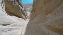 Camera moving in a slot canyon Stock Footage