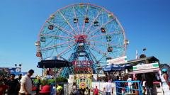 Coney Island scenics - stock footage