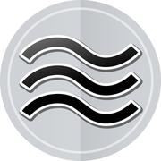 Stock Illustration of waves sticker icon