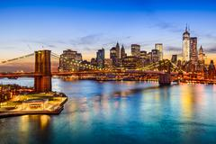 Brooklyn Bridge and Manhattan Skyline Kuvituskuvat