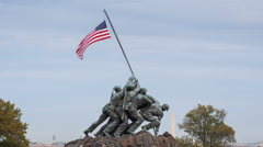 Time lapse - Washington DC - Iwo Jima U S Marine Corps Memorial Stock Footage