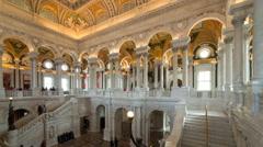Thomas Jefferson Building, Library of Congress, Washington DC, USA Stock Footage