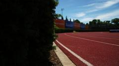 Princeton track Stock Footage