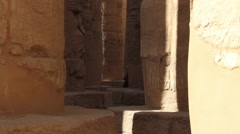 The Karnak Temple Complex with tourists Stock Footage