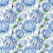 Indigo Floral Pattern Stock Illustration
