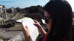 Roman Forum in Italy Stock Footage