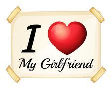 Stock Illustration of Girlfriend