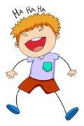 Boy laughing Piirros