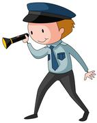 Security guard - stock illustration