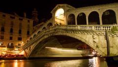 Italy Venice Gondola Canal Venetian Architecture Water Italian Landmark Europe Stock Footage
