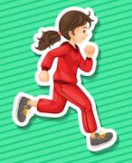 Stock Illustration of Runner