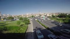 4K Time Lapse daily traffic jam Jerusalem near the Saccer Park Stock Footage