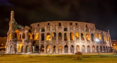 Colliseum Italy Rome Architecture Arena Coliseum Landmark Roman Amphitheater Stock Footage