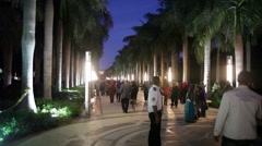 Al-Azhar Park at night Stock Footage