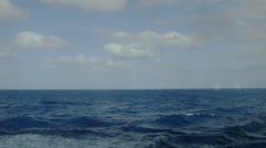 Open ocean steadicam pan Stock Footage