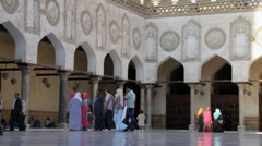 Al-Azhar Mosque courtyard Stock Footage