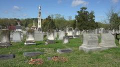 Fredericksburg Virginia Confederate cemetery graves headstones 4K 006 Stock Footage