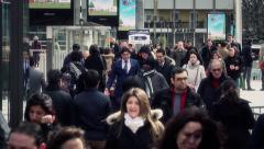 City Pedestrians Paris business district - 60fps Stock Footage