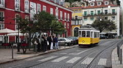 Portugal Tramway Stock Footage
