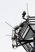 Telecommunication antennas Stock Photos