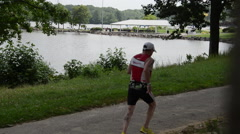 Mercer County triathlon Stock Footage