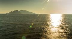 Sunset Sky Sea Island Sunrise Water Ocean Travel Nature Landscape Summer Stock Footage