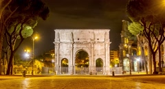 Rome Roma Landmark Italian Ancient Travel Italy History Roman Old Building - stock footage