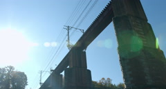 Sun light railway 4k color graded (4000x2160) Stock Footage