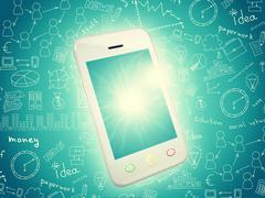 White cell phone Stock Illustration