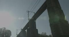 Sun light railway 4k  non color graded (4000x2160) Stock Footage