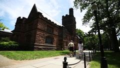 Princeton University campus Stock Footage
