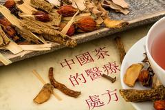 tea traditional chinese medicine - stock photo