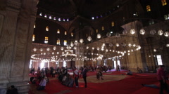 Alabaster Mosque, wide interior shot Stock Footage