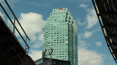 Exterior Citigroup building Stock Footage