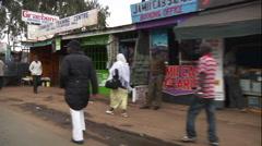 Slow motion drive through Nairobi, Kenya - stock footage