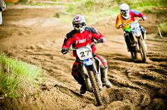 Polish Western Zone Motocross Championship Round VI Poland Stock Photos
