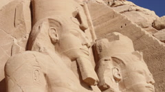 Stock Video Footage of Statue of Ramesses II
